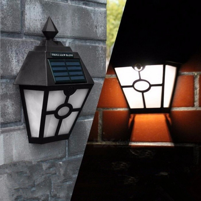 Solar Powered White Light LED Light Outdoor Lighting Garden Path Landscape Lamp Fence Yard Wall Light Lamp