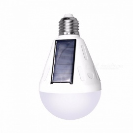 9W E27 LED Solar Powered Light Bulb Outdoor Energy Saving Portable Camping Light Waterproof LED Bulb Lamp 9W/cant change by USB