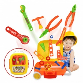 Global Drone 16Pcs Children Simulation Repair Tool Set, Plastic Pretend Play Toy, Creative Early Learning Educational Toy Gift Colorful (32PCS 326-730)