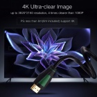 Ugreen Mini 1080P 3D 4K HD HDMI Male to HDMI Male 1.4 Cable for PS3 Projector HD LCD Apple TV Computer 1m/Black