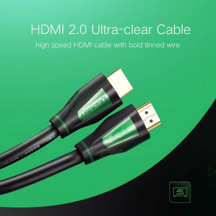 Ugreen Mini 1080P 3D 4K HD HDMI Male to HDMI Male 1.4 Cable for PS3 Projector HD LCD Apple TV Computer