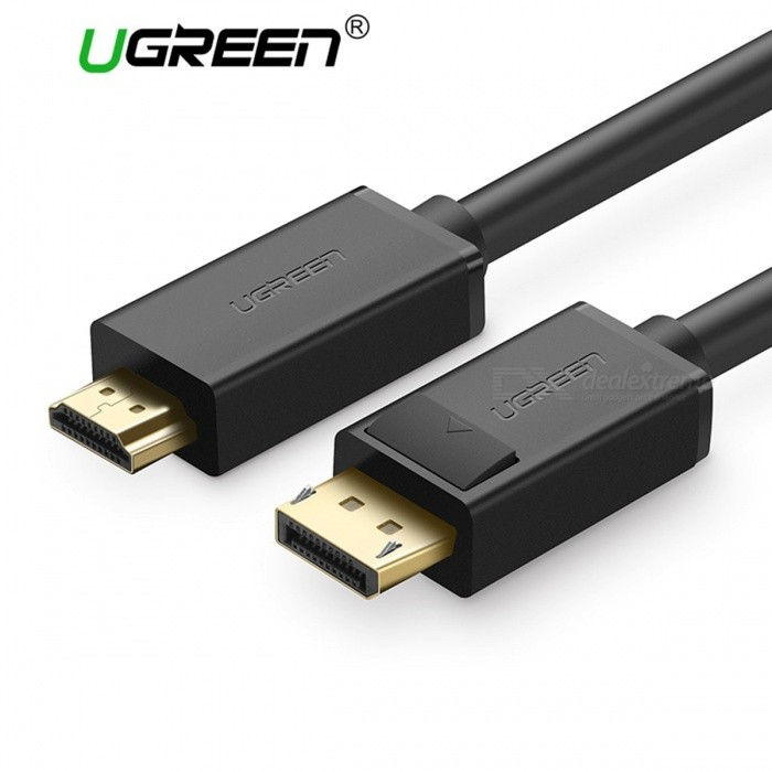 Ugreen 1080P Displayport to HDMI Adapter Cable, DP Male to HDMI Male Converter Video Audio Cable for HDTV Projector Laptop 5m/BlackAV Adapters And Converters<br>Description<br><br><br><br><br>Type: DP/Mini DP Cables<br><br><br>Connector A: Displayport(DP)<br><br><br><br><br>Application: Projector,TV BOX,Monitor<br><br><br>Connector B: HDMI<br><br><br><br><br>Gender: Male-Male<br><br><br>Brand Name: Ugreen<br><br><br><br><br>Packing: Polybag<br><br><br>Package: Yes<br><br><br><br><br>Bundle: Bundle 1<br><br><br>Version: DisplayPort 1.2<br><br><br><br><br>Shielding: Other<br><br><br><br><br><br><br><br><br><br>feature 1: displayport to hdmi <br><br><br>feature 2: dp to hdmi adapter <br><br><br>feature 3: dp to hdmi converter <br><br><br>feature 4: displayport dp to hdmi <br><br><br>feature 5: displayport to hdmi cable <br><br><br>feature 6: displayport dp to hdmi adapter <br><br><br>length: 1m ,1.5m , 2m , 3m ,5m ,8m <br><br><br>colour: black<br>