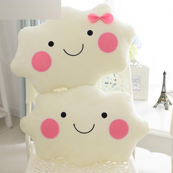 Kawaii soft Plush Smiley Face Bow Cloud pillow 100% Cotton Stuffed Back Cushion Seat Cushion Christmas gifts plush toy White 1Dolls and Stuffed Toys<br>Description <br><br><br><br><br>Item Type: Animals <br><br><br>Features: Stuffed &amp;amp; Plush,Soft <br><br><br><br><br>Form: Star/Moon/Sun <br><br><br>Age Range: & 3 years old <br><br><br><br><br>Type: Cushion/Pillow <br><br><br>Brand Name: BOOKFONG <br><br><br><br><br>Material: Cotton <br><br><br>Filling: PP Cotton <br><br><br><br><br>Gender: Girls <br><br><br>Theme: Other <br><br><br><br><br>Animals: Other <br><br><br><br><br><br><br><br><br><br><br><br><br><br><br>1 Funny Design <br><br><br>2 High Quality with soft material <br><br><br>3 Best gift choice for friends <br><br><br>4 The more you buy,the cheaper it will be. <br><br><br>5 If &amp;nbsp;you want to buy in bulk,please conatct us and we will offer you big discount and fast shipping method! <br><br><br>Cloud cushion SIZE: 35*30CM (error 1-2cm) <br><br><br>Package Included: 1 x Cloud Cushion<br>
