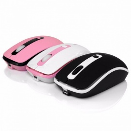 Mini Rechargeable Silent Click Colorful Wireless Mouse, Computer Gaming Mouse Mice for Pro Gamer PC Laptop Notebook Black