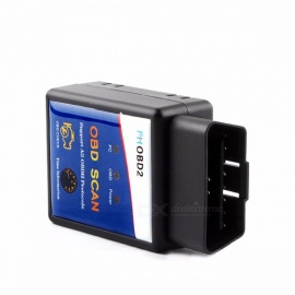 100% PIC18F25K80 Best Chip ELM327 V1.5 Bluetooth ODB 2 ODB2 Diagnostic-Tool Universal Coder Reader Scanner for Pertol Diesel Car with OBD Cable