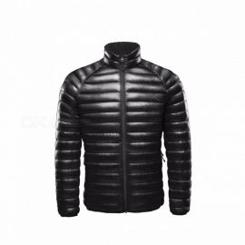 Xiaomi Warm Down Jacket Feather Dress Coat for Men, One Weaving Thin White Duck DownJacket for Smart Home Black XXL