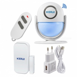 Smart Home Wi-Fi App Control Burglar Alarm System, Door PIR Motion Detector Alarm Wireless Home LED Flash Light Security  KIT2