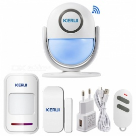 Smart Home Wi-Fi App Control Burglar Alarm System, Door PIR Motion Detector Alarm Wireless Home LED Flash Light Security  KIT4