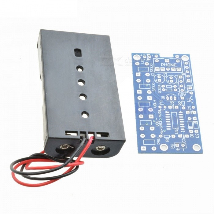 76MHz-108MHz Wireless Stereo FM Radio Kit, Audio Receiver PCB FM Module Set Learning Electronics for DIY, DC 1.8-3.6V