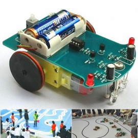 D2-1 DIY Intelligent Tracking Line Smart Car Kit Suite, TT Motor Electronic Production Smart Patrol Automobile Parts  colorful
