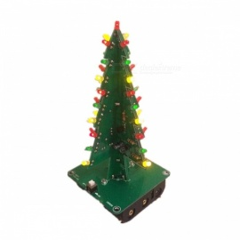 3D Three-Dimensional Christmas Tree LED DIY Kit Red/Green/Yellow LED Flash Circuit Parts Electronic Fun Suite Christmas Gift colorful