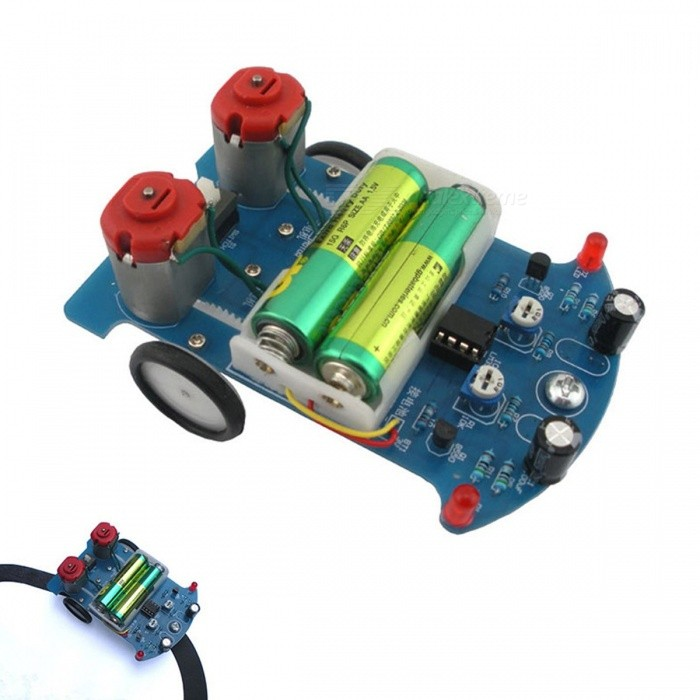 D2-5 Intelligent Smart Tracking Line Car DIY Kit Suite TT Motor Electronic Assembly Smart Patrol Smart Automobile Parts colorfulDIY Parts &amp; Components<br>Description<br><br><br><br><br>Brand Name: IS<br><br><br>is_customized: Yes<br><br><br><br><br>Type: Logic ICs<br><br><br>Condition: New<br><br><br><br><br>Application: Electric Toy<br><br><br><br><br><br><br><br><br><br><br><br>NOTE:Package does not contain battery, the picture is only for reference demonstration effect!!<br><br><br>1&. Model: D2-5<br><br>2&. Name: D2-5 Intelligent Tracking Car DIY Kit<br><br>3&. PCB Size:104*72*1.6mm<br><br>4&.Installation dimension:104*72*55mm<br><br>5&. Work Voltage:3V<br>