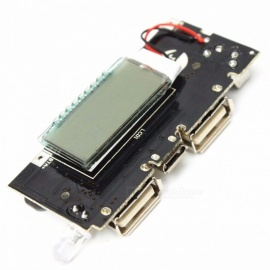 DIY Dual USB 5V 1A 2.1A Mobile Power Bank 18650 Battery Charger PCB Power Module Accessories for Phone DIY LED LCD Module Board colorful