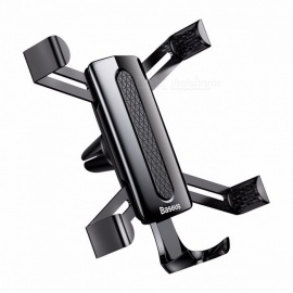 Baseus Car Air Vent Mount Spiderman Shape Gravity Phone Holder Stand Bracket for IPHONE X 8 7 Samsung Huawei Xiaomi Phone  Black