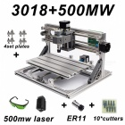 CNC3018 with ER11 DIY Mini CNC Engraving Machine Laser Engraving PCB PVC Milling Machine Wood Router Best Advanced Toys 3018 5500mw add ER11