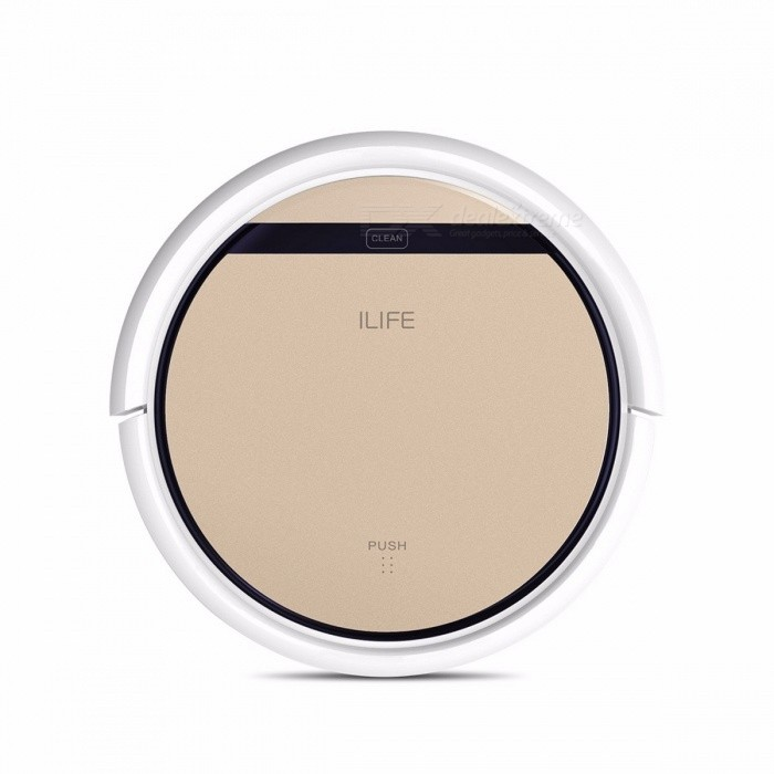 ILIFE V5s Pro Intelligent Smart Robot Vacuum Cleaner Cleaning Tool with 1000PA Suction Dry and Wet Mopping Function - USModelV5s ProMaterialV5s ProForm  ColorGoldQuantity1 setPower20 WRate Voltage14.4Power AdapterBatteryCertification:Form  ColorGoldPower AdapterUSPacking ListRobot vacuum cleaner x1User manual x1Remote control x1Filter x1sides brush x1Cleaning brush x1AC Adapter x1Charging dock x1Water tank x1 Mop cloth x1<br>