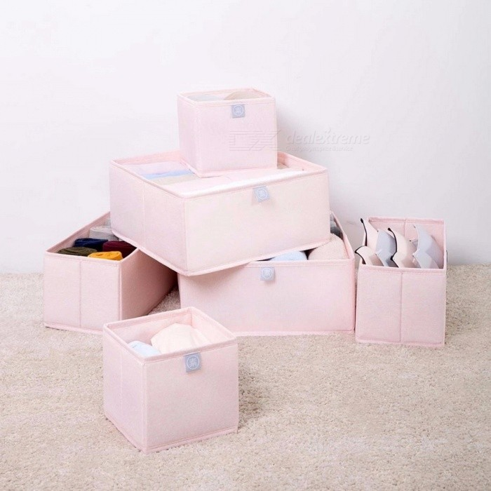 Xiaomi Yuan Su Storage Box, 6Pcs High Density Oxford Cloth Damp-Proof Box Organizer for Socks Underwear Ties Bra Clothes pinkStorage Box &amp; Bag <br>Description<br><br><br><br><br>Features: Remote Control,Slot<br><br><br>Control Channels: 2 Channels<br><br><br><br><br>Brand Name: xiaomi<br><br><br>Scale: Other<br><br><br><br><br><br><br><br>Product name ?&amp;nbsp;Storage box 6 pcs<br><br><br>Quantity:6pcs/set<br><br><br>Colors:pink /blue<br><br><br>Fabric?100%&amp;nbsp;Polyester<br><br><br>Inserts ?Reinforced polypropylene plastic<br><br><br>Product specifications ?280*280*130mm *2 , 280*140*130mm *2 , &amp;nbsp;140*140*130mm *2<br>