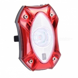 Rain Waterproof Super Bright USB Rechargeable Bike Rear Tail Light Lamp Taillight, LED Safety Cycling Light  Red