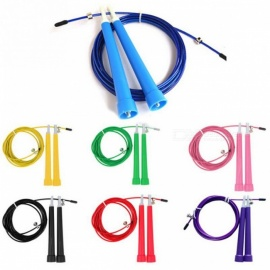 New 3m High Speed Aerobic Steel Wire Skipping Rope, Length Adjustable Jump Rope Crossfit Fitness Equipment Blue
