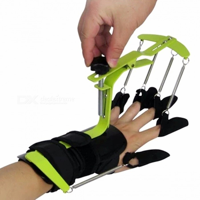 Premium Portable Wrist Finger Orthosis Belt, Stroke Hemiplegia Finger Exercise Rehabilitation Trainer blackDescription<br><br><br><br><br>Item Type: Braces &amp;amp; Supports<br><br><br>Brand Name: hjisnkhs<br>