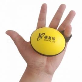 Strength Trainer Finger Hand Exerciser Grip, Muscle Power Expander Training Recovery Foam Fitness Gripping Ball Yellow