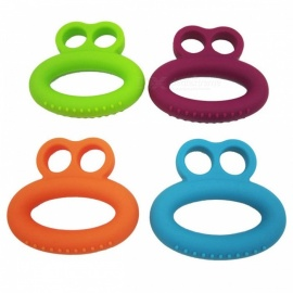 AIBOULLY Silicone Hand Grip, Ring Hand Gripper, Gym Equipement Wrist Fitness Finger Training Strength Trainer Exerciser Purple