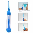 Portable Dental Floss Oral Irrigator Water Flosser Jet, Remove Debris Reduce Bacteria Tooth Cleaner for Oral Care Fresh Breath Blue + White