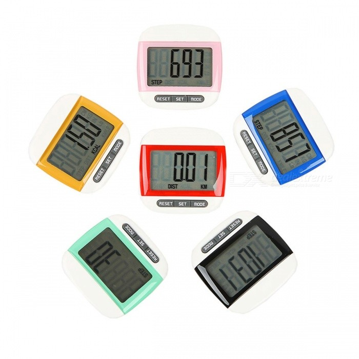 Mini Waterproof Step Movement Calories Counter, Digital LCD Pedometer for Sports Walking Exercise Distance Calculation picture showFitness electronics<br>Description<br><br><br><br><br>Brand Name: kebidu<br><br><br>Type: Calorie Calculation Function<br><br><br><br><br><br><br><br><br><br><br><br>Description: <br><br><br>100% Brand new and high quality<br><br><br>Features:<br><br><br>Water-Proof function and Big screen,Small and light,Easy to carry<br><br><br>Fashion,Necessary for walking and taking exercises<br><br><br>Make your exercise more regularly everyday and Supervise you develop good habits<br><br><br>Keep you healthier<br><br><br>1)Color:Pink;Yellow;Blue;Red;Green;Black<br><br><br>2)Step counting: ranging 0~99999 steps<br><br><br>3)Calorie counting: Ranging 0~9999.9 CAL<br><br><br>4)Sports time: 0~1440 minutes<br><br><br>5)Distance calculation: Ranging 0~999.99KM<br><br><br>6)Memory function: 7 days of Steps/Distance/Calorie history record tracking.<br><br><br>7)Sleep function: Sleep mode will be triggered in 3 minutes without step counting or no<br><br><br>pressing on the key buttons<br><br><br>&amp;nbsp;<br><br><br>Specifications: <br><br><br>Size:5*5*2.5 mm (L*W*H)<br><br><br>Color:Pink;Yellow;Blue;Red;Green;Black<br><br><br>&amp;nbsp;<br><br><br>Package Includes: <br><br><br>1X Calories Counter&amp;nbsp;(battery not include)<br>