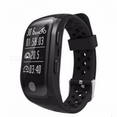 ADORARE S908 IP68 Waterproof Digital GPS Smart Watch Bracelet w/ Heart Rate Monitor, Sports Fitness Tracker for Android iOS Green