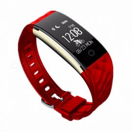 LUOKA S2 IP67 Waterproof Bluetooth Sport Smartband Smart Band Bracelet Wristband w/ Heart Rate Monitor for IPHONE Android Red