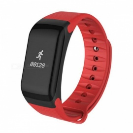 NAIKU F1 Smartband Smart Band Wristband Bracelet with Pedometer, Blood Pressure Heart Rate Monitor, Fitness Tracker red