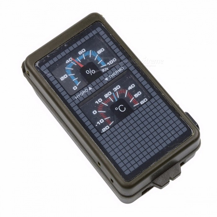 10-in-1 Multifunction Military Camping Survival Compass Outdoor Compass With Hygrometer LED Light Thermometer