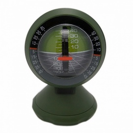 Outdoor Multifunctional Car Inclinometer Angle Slope Meter Balancer Measure Vehicle Electronic Boat Car Compass Army Green