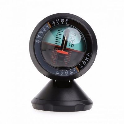 Multifunctional Car Inclinometer Slope Outdoor Measure Tool Vehicle Compass Adjustable Stand Can Be Installed In Any Position black