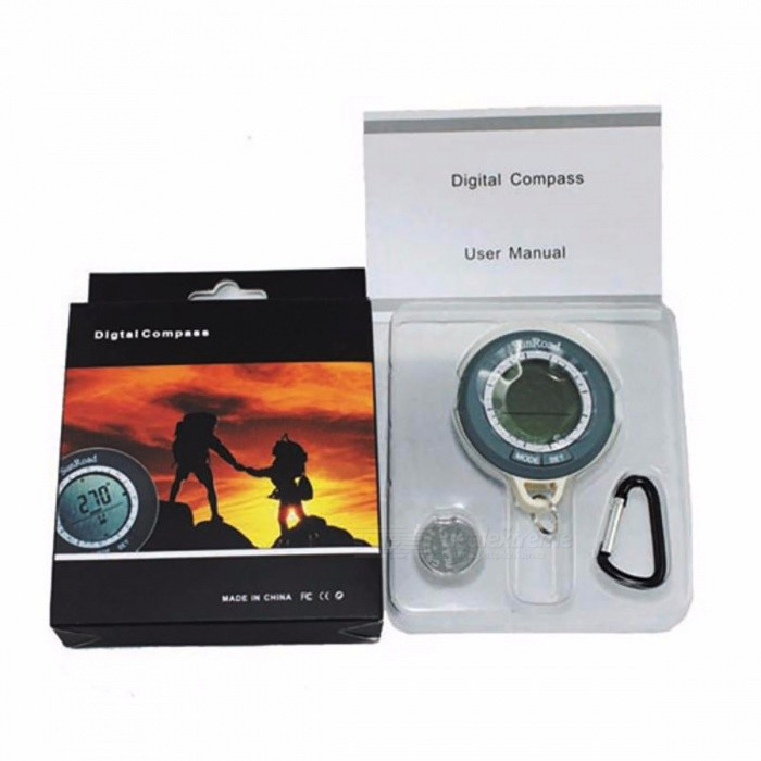 Outdoor LCD Digital Fishing Compass GPS Electronic Waterproof Barometer Altimeter Thermometer Multimeter Hiking Survival Tool