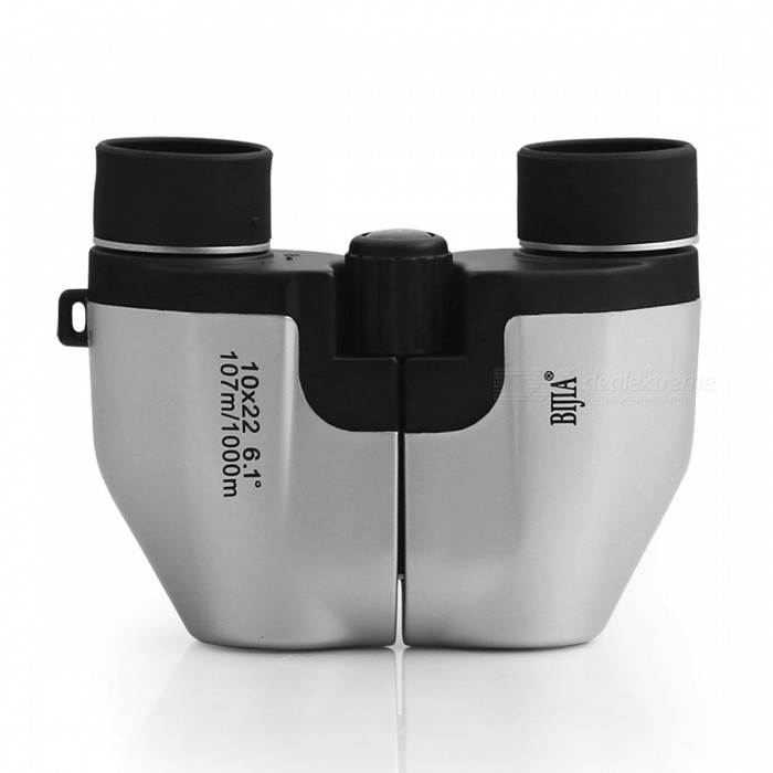 BIJIA 10X22 High Powered Waterproof Compact Night Vision Binocular w/ Multi-Coated Opera Glasses for Outdoors