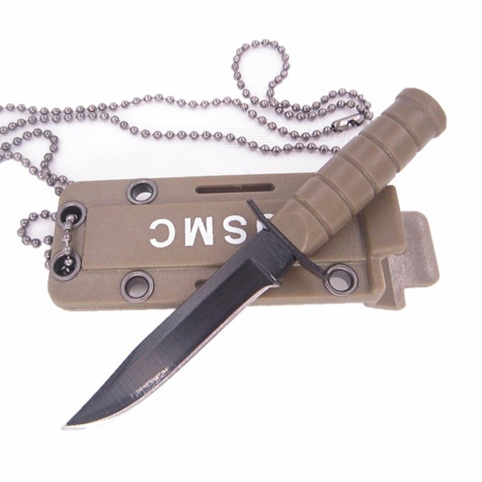 Portable Mini Pocket EDC Self Defense Knife with Scabbard and Necklace for Outdoor Camping Hunting Survival, Box Package Opener