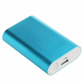 Portable 10000mAh Power Bank Aluminum Case Kit, 3 x 18650 Battery Charger DIY Box for Phones (No Battery) Blue