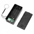 DIY 5V 1A 2 x 18650 Battery Power Bank Charger Case Box with LED Indicator for Cell Phone (Battery Not Included) Black