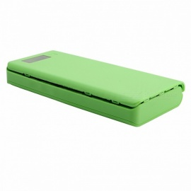 Mini Portable USB Mobile Power Bank Charger DIY Pack, 8 x 18650 Battery Case Holder for Phone (Battery Not Included) green
