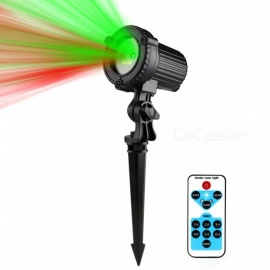 IP44 Waterproof Outdoor Garden Christmas Star Light Red Green Laser Projector w/ IR Remote Control for Show RG Decoration EU Plug