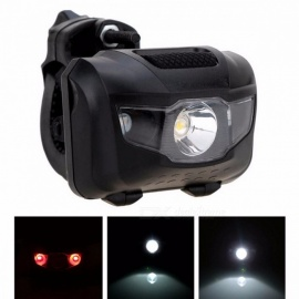 ZK50 Portable Bicycle MTB Bike Front Rear LED Light, ABS Head Tail Taillight Warning Lamp Flashlight  Black