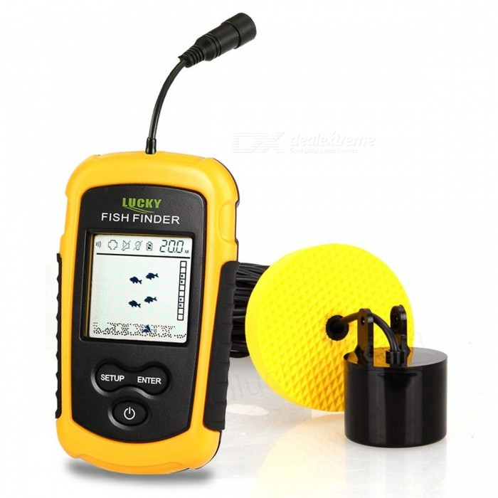 Lucky ff1108 1 ff1108 1ct portable fish finder depth sonar for Fish and depth finder