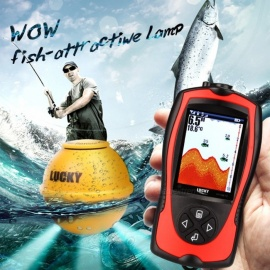 LUCKY FF1108-1CWLA Rechargeable Wireless Remote Sonar Sensor 45m Water Depth High Definition LCD Fish Finder Wireless Sensor Only