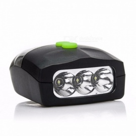 Universal 3-LED White Light Bike Bicycle Cycling Front Head Lamp + Electronic Bell Horn Hooter Siren  Black