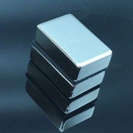 2Pcs 30x20x10mm Mini N35 Rare Earth Super Strong Permanent Magnets, Cuboid Block Neodymium Magnets    Silver