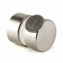 2Pcs Mini Super Strong Powerful Dia 40mm x 20mm Neodymium Magnets, 40x20 Rare Earth NdFeB N52 Disc Magnets Silver