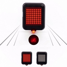 DRBIKE 64-LED Brilliant Infrared Automatic Turn Signal Bike Light, USB Rechargeable Bicycle Lamp Tail-lamp Black