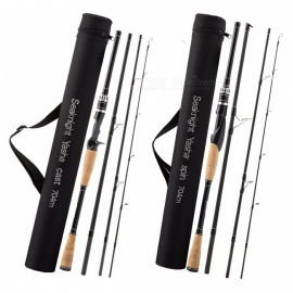 SeaKnight YASHA Lure Fishing Rod 4 Section 2.1M 2.4M 2.7M M Power Carbon Fiber Spinning Casting Travel Rod 10-30g Fishing Tackle 2.4 m/White