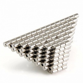 100pcs N50 D4x5mm High Quality Ndfeb Magnet Super Strong Rare Earth Magnets Nickel Copper Neodymium Magnets Silver